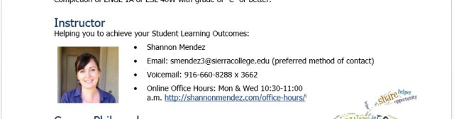 Screenshot of Instructor Contact Info from Syllabus